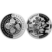Зверобой четырехкрылый 20 рублей серебро 2013